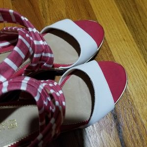 faab5b63b8c Sperry Shoes - Sperry Top-Sider Wedge Heels Red White Blue
